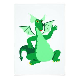 Waving Green Dragon Card