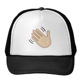 Waving Hand Sign Emoji Cap