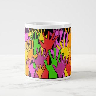 Waving Hands Jumbo Mug