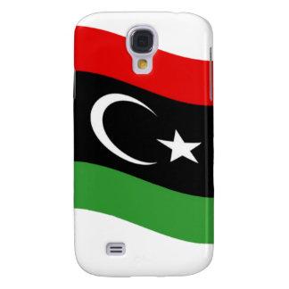 Waving Libya Flag Galaxy S4 Cover