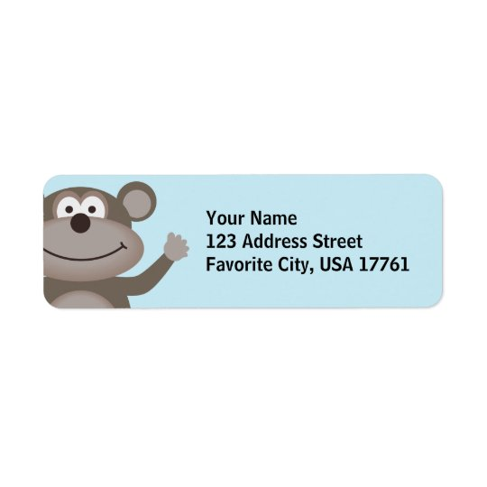 Waving Monkey Address Labels