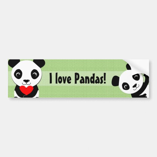 Waving Panda Bumper Sticker