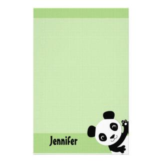 Waving Panda Stationary Stationery