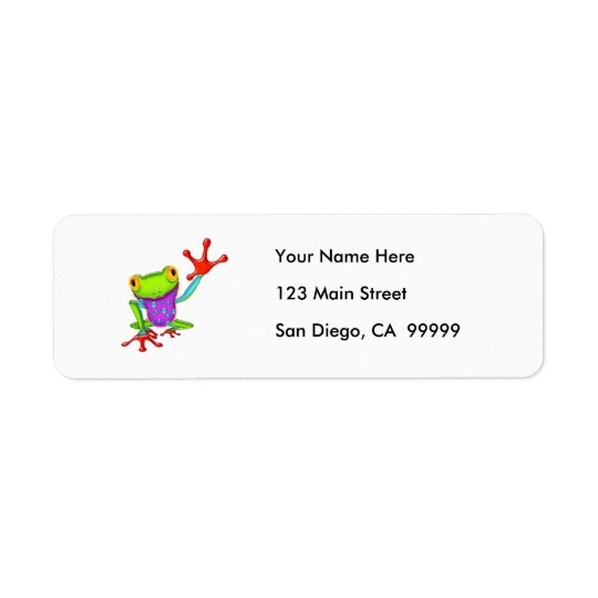 Waving Poison Dart Frog Return Address Label