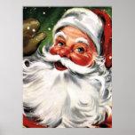 Waving Santa Claus Print