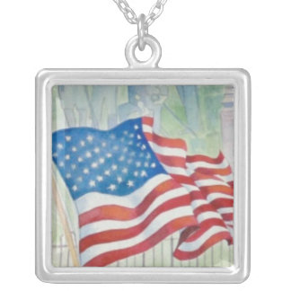 Waving the American Flag Necklace