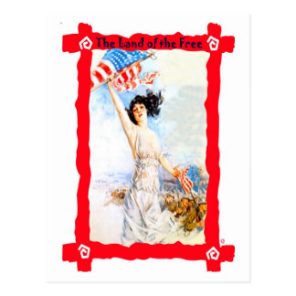 Waving the flag postcard