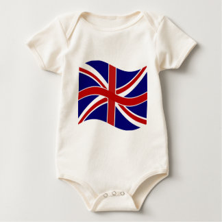 Waving Union Jack Baby Bodysuit