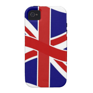 Waving Union Jack Case-Mate iPhone 4 Cases
