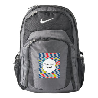 Wavy abstract design backpack