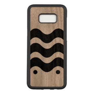 Wavy Abstract Pattern 4Ken Carved Samsung Galaxy S8+ Case