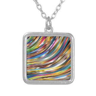 Wavy Abstract Silver Plated Necklace