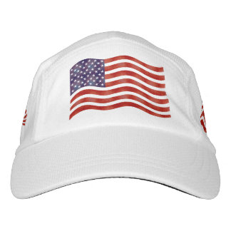 Wavy American Flag, USA Hat