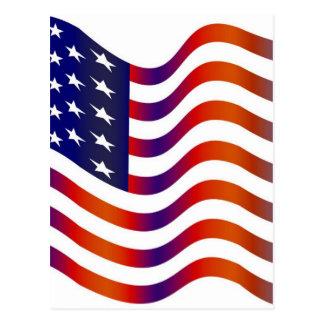 WAVY AMERIICAN SYMBOL FLAG, AMERICAN FLAG GIFT POSTCARD