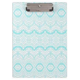 Wavy Aqua Geometric Pattern Clipboard