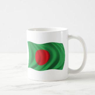 Wavy Bangladesh Flag Coffee Mug