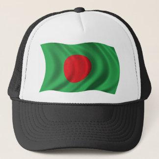 Wavy Bangladesh Flag Trucker Hat