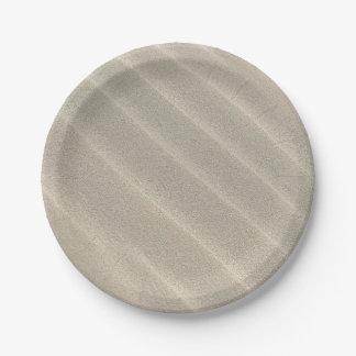 Wavy Beach Sand Paper Plate