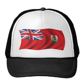 Wavy Bermuda Flag Mesh Hats