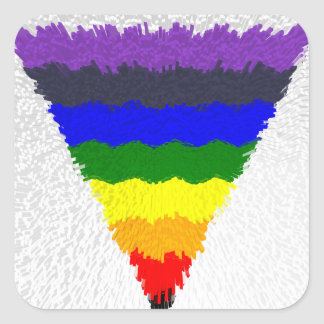 Wavy Block Fibres Rainbow Triangle Funnel Square Sticker