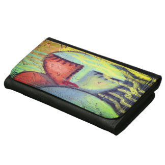 Wavy Blonde Hair Abstract Art Wallet
