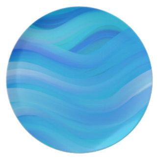 Wavy Blue Plate