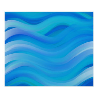 Wavy Blue Poster