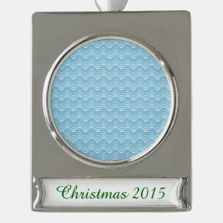 Wavy Blues Silver Plated Banner Ornament