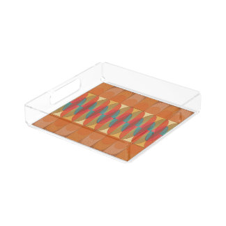 Wavy color stripe acrylic tray