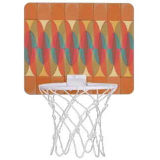 Wavy color stripe mini basketball hoop