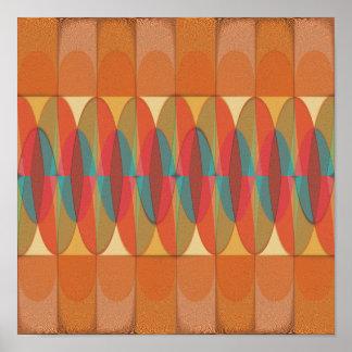 Wavy color stripe poster