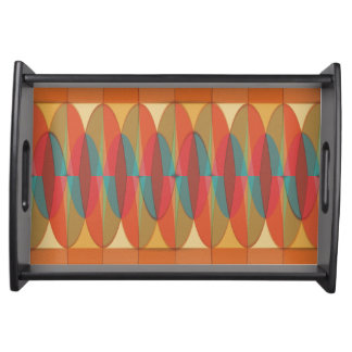 Wavy color stripe serving tray
