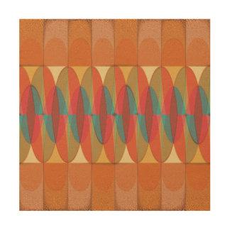 Wavy color stripe wood wall decor