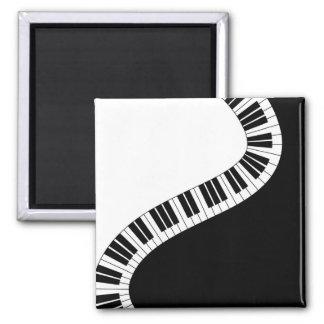 Wavy Curved Piano Keys Magnet