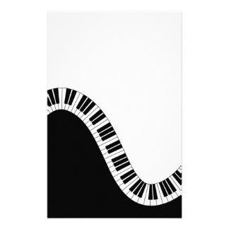Wavy Curved Piano Keys Personalised Stationery