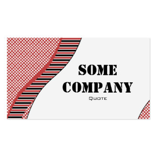 Wavy Dots And Stripes (Cherries) Business Card Template