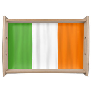 Wavy Flag of Ireland Serving Tray