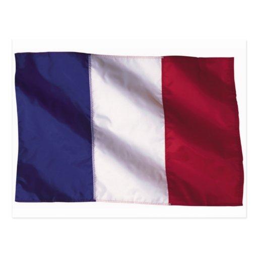 Wavy France Flag Post Cards