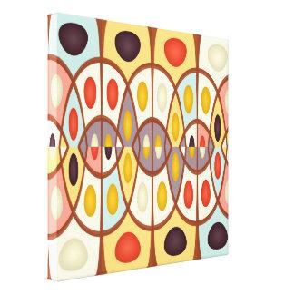 Wavy geometric abstract canvas print