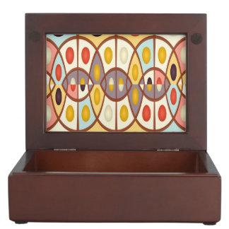 Wavy geometric abstract keepsake box