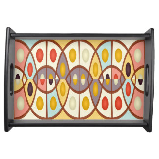 Wavy geometric abstract serving tray