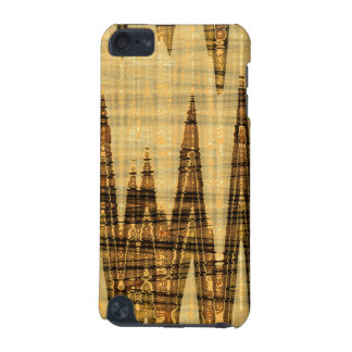 Wavy golden abstract iPod touch 5G cases