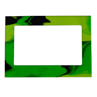 Wavy Green and Black Magnetic Picture Frame
