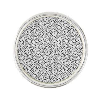 Wavy Intricate Pattern Design Lapel Pin