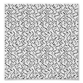 Wavy Intricate Pattern Design Photo Print