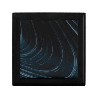 Wavy line of flow gift box