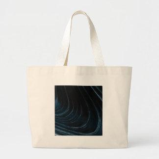 Wavy line of flow large tote bag