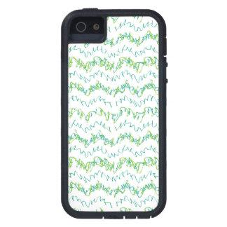 Wavy Linear Stripes Pattern Design iPhone 5 Case