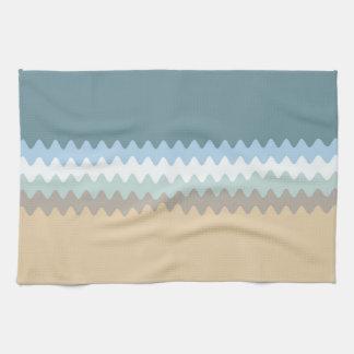 Wavy Lined Six Color Combo Tea Towel