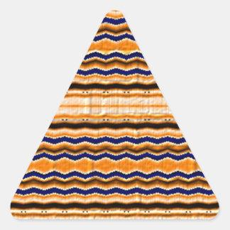 Wavy lines cool pattern triangle sticker